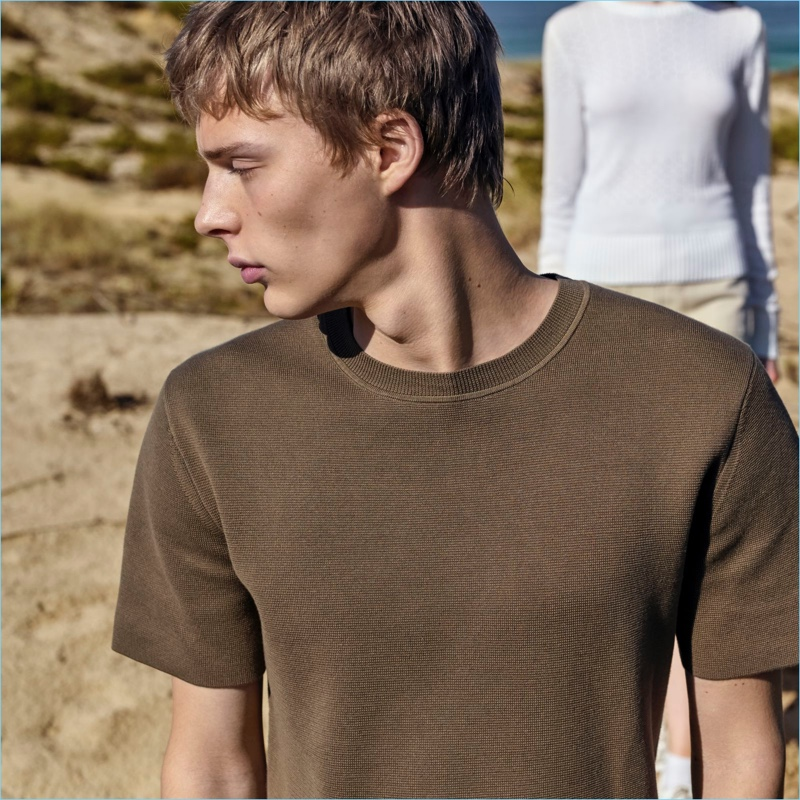 Elevate the t-shirt with Uniqlo U's ribbed crewneck sweater.
