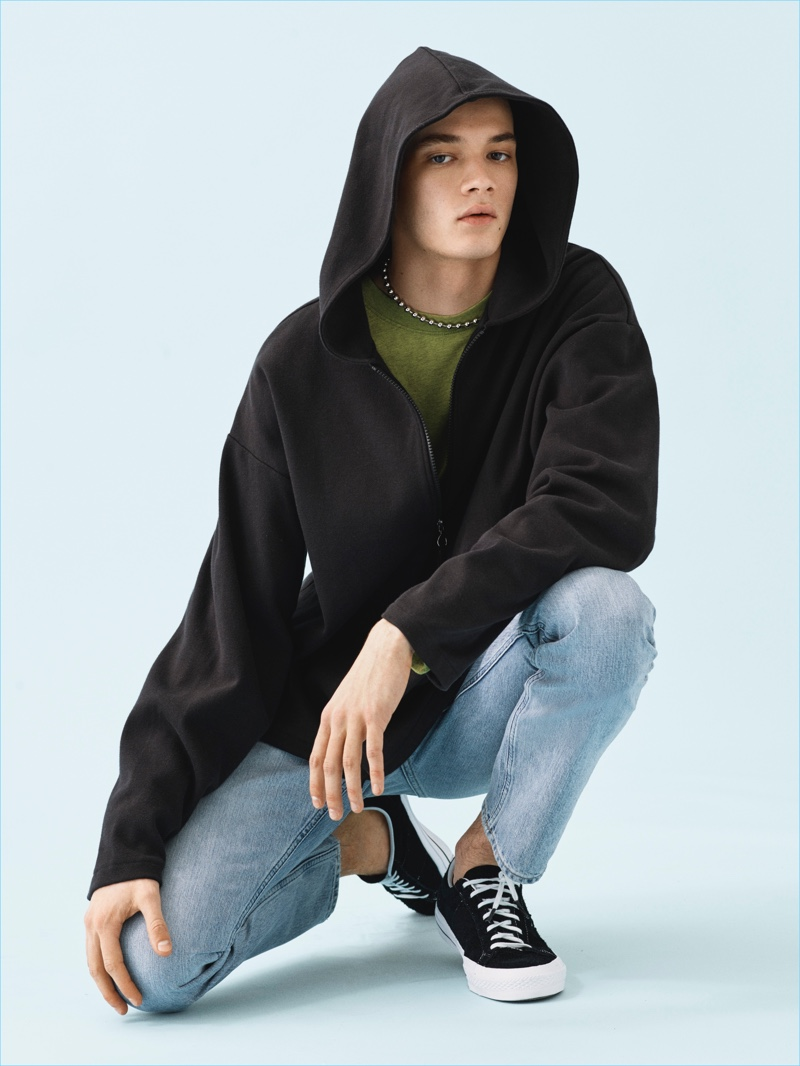 Bringing a youthful edge to Weekday, Maxime Frenel stars in the brand's spring-summer 2017 campaign.