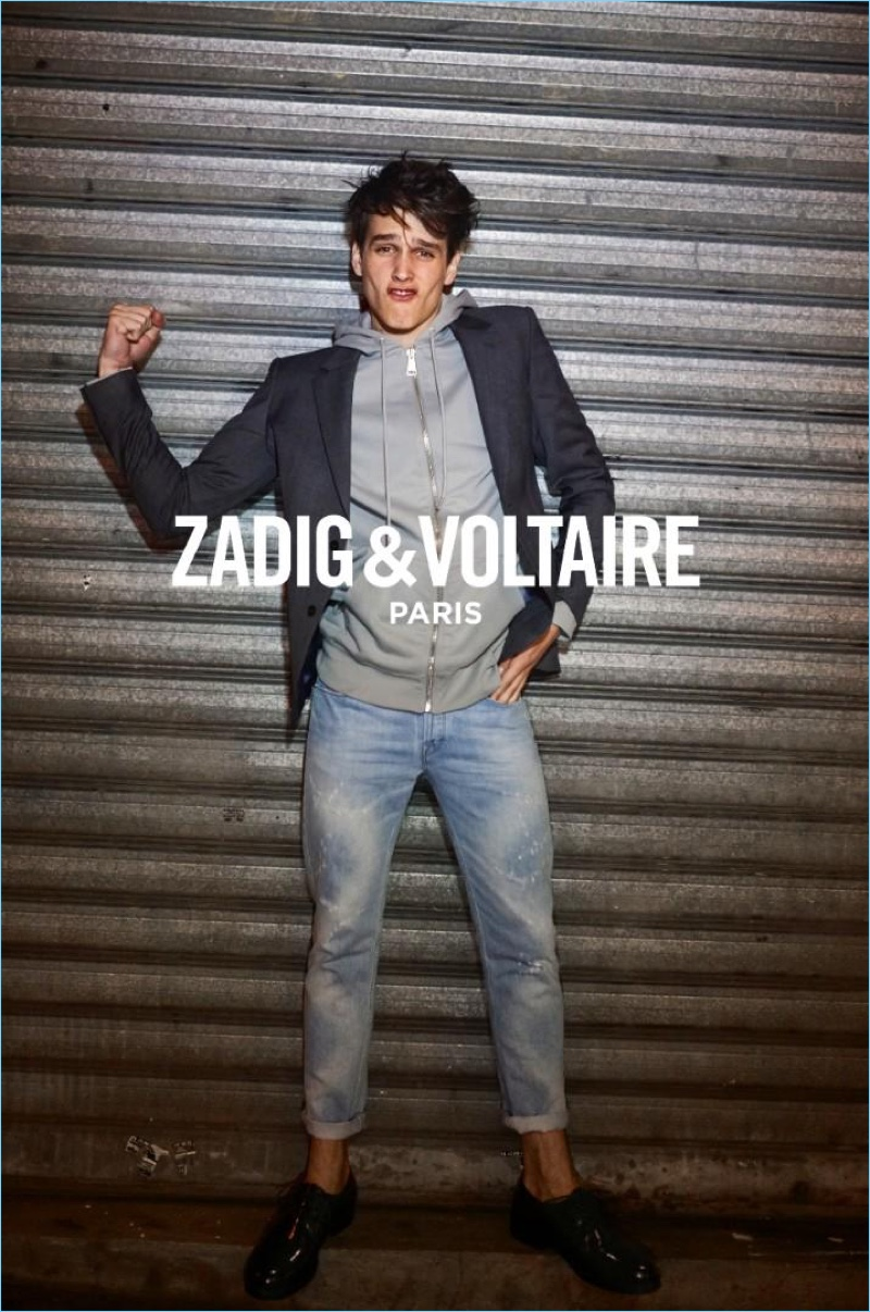 Simon van Meervenne stars in Zadig & Voltaire's spring-summer 2017 lookbook.