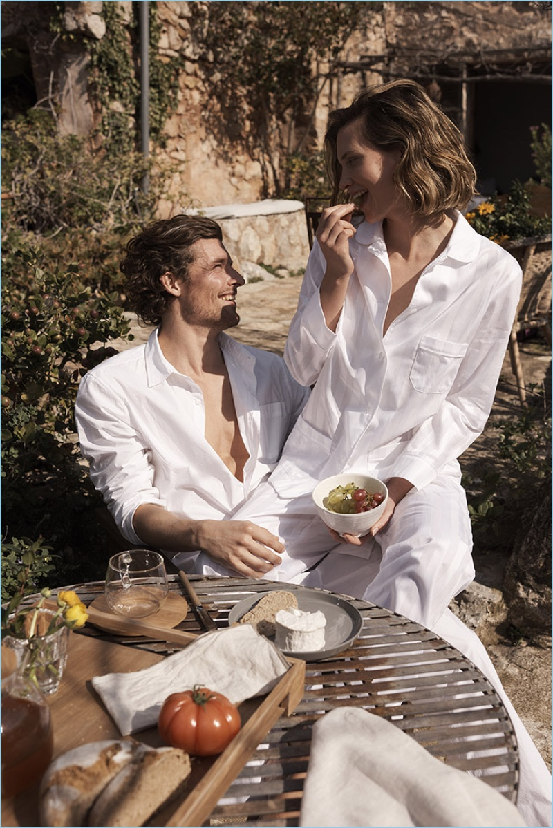 Zara Home enlists models Wouter Peelen and Drake Burnette for a relaxing loungewear edit.