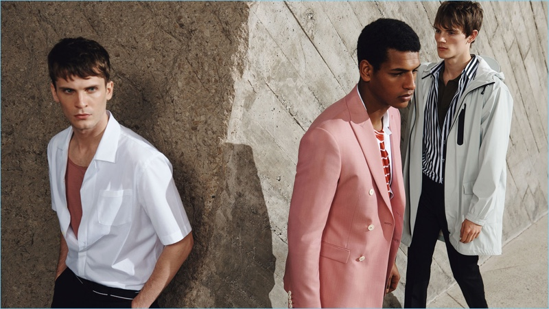 William Eustace, Tidiou M'Baye, and Callum Ward star in an editorial for Zara Man.