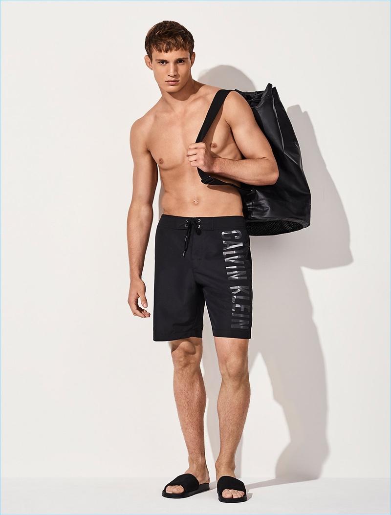 black calvin klein swim shorts