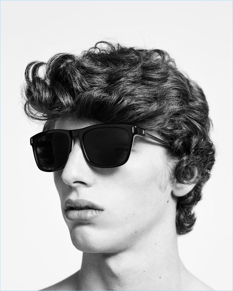 Fernando fronts Calvin Klein's spring-summer 2017 eyewear campaign.
