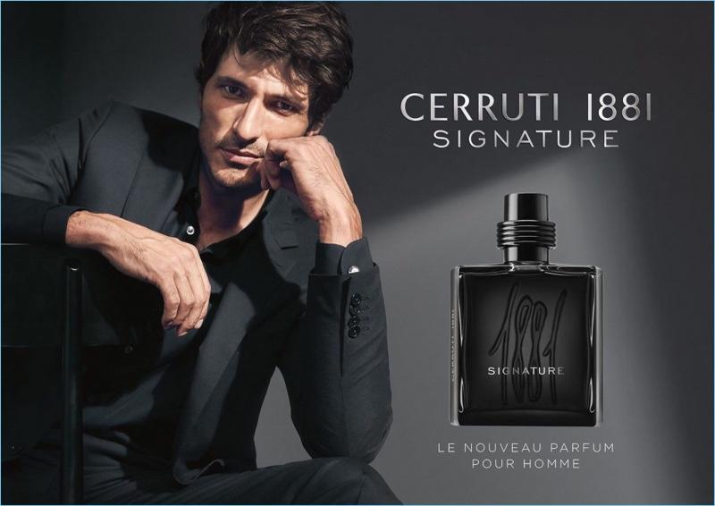 Andres Velencoso stars in Cerruti 1881 Signature fragrance campaign.