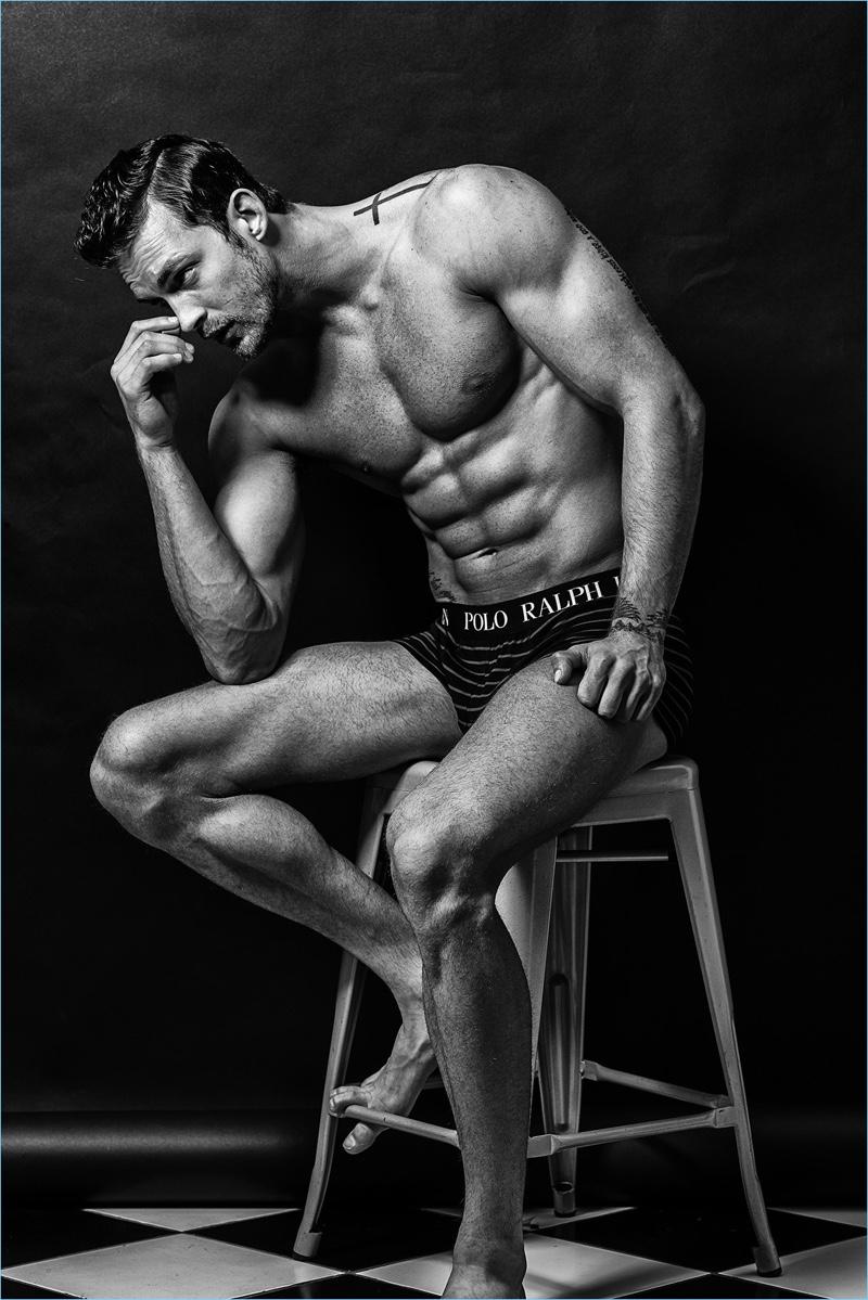 Christian Hogue wears POLO Ralph Lauren underwear.