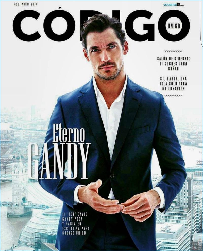 David Gandy covers the April 2017 issue of Código Único.