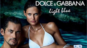 David Gandy and Bianca Balti front the new fragrance campaign for Dolce & Gabbana Light Blue eau Intense.