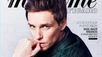 Eddie Redmayne covers a special hommes issue of Madame Figaro.