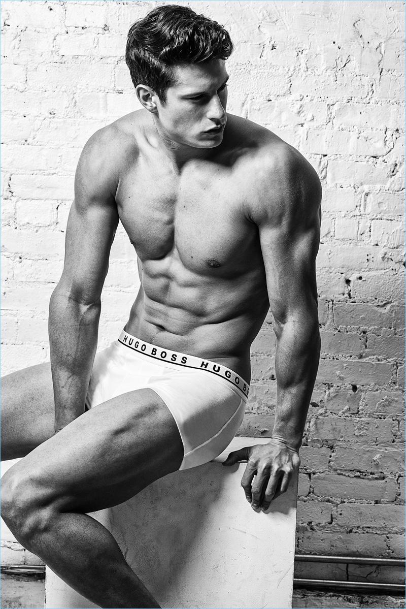 Eian Scully rocks Hugo Boss underwear.