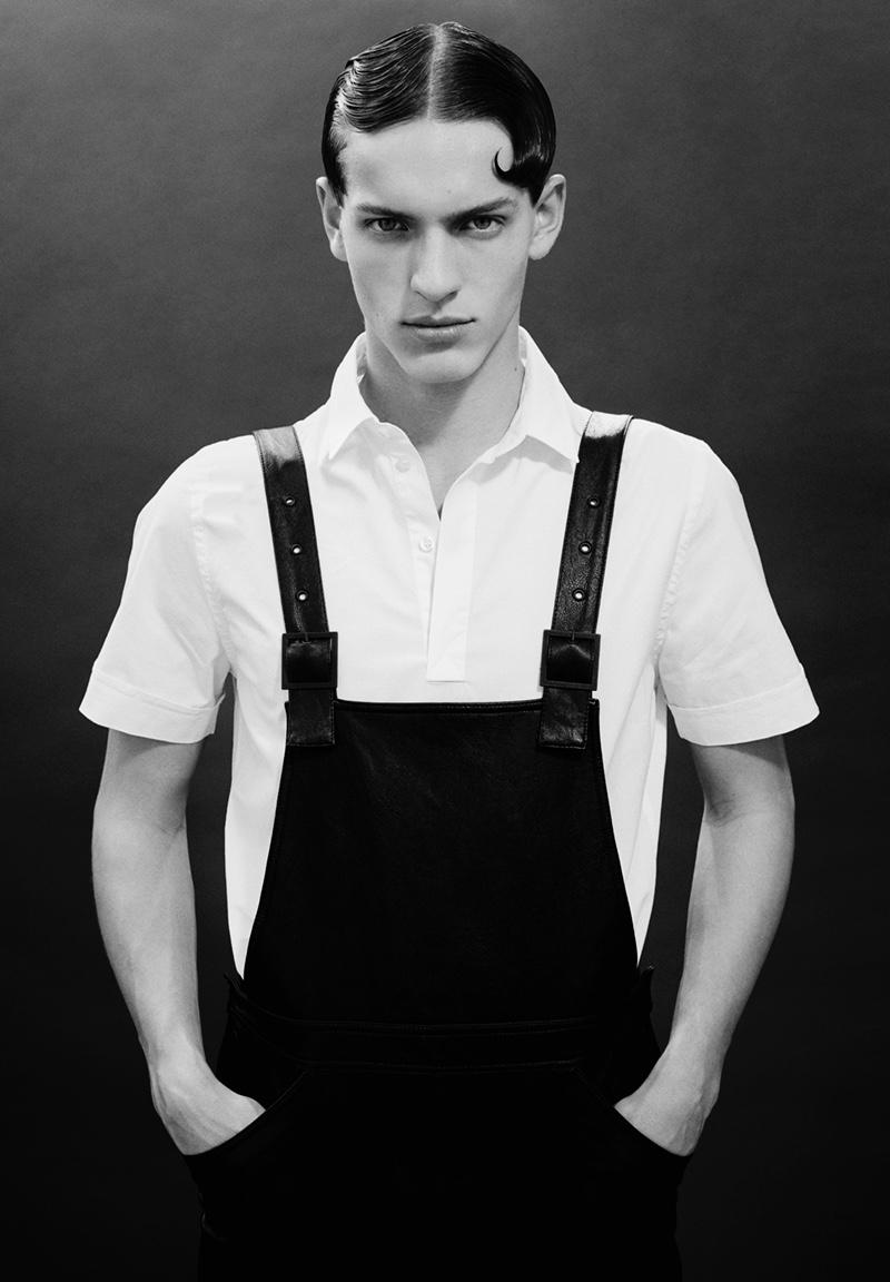 Oskar wears shirt Filippa K and overalls H&M.