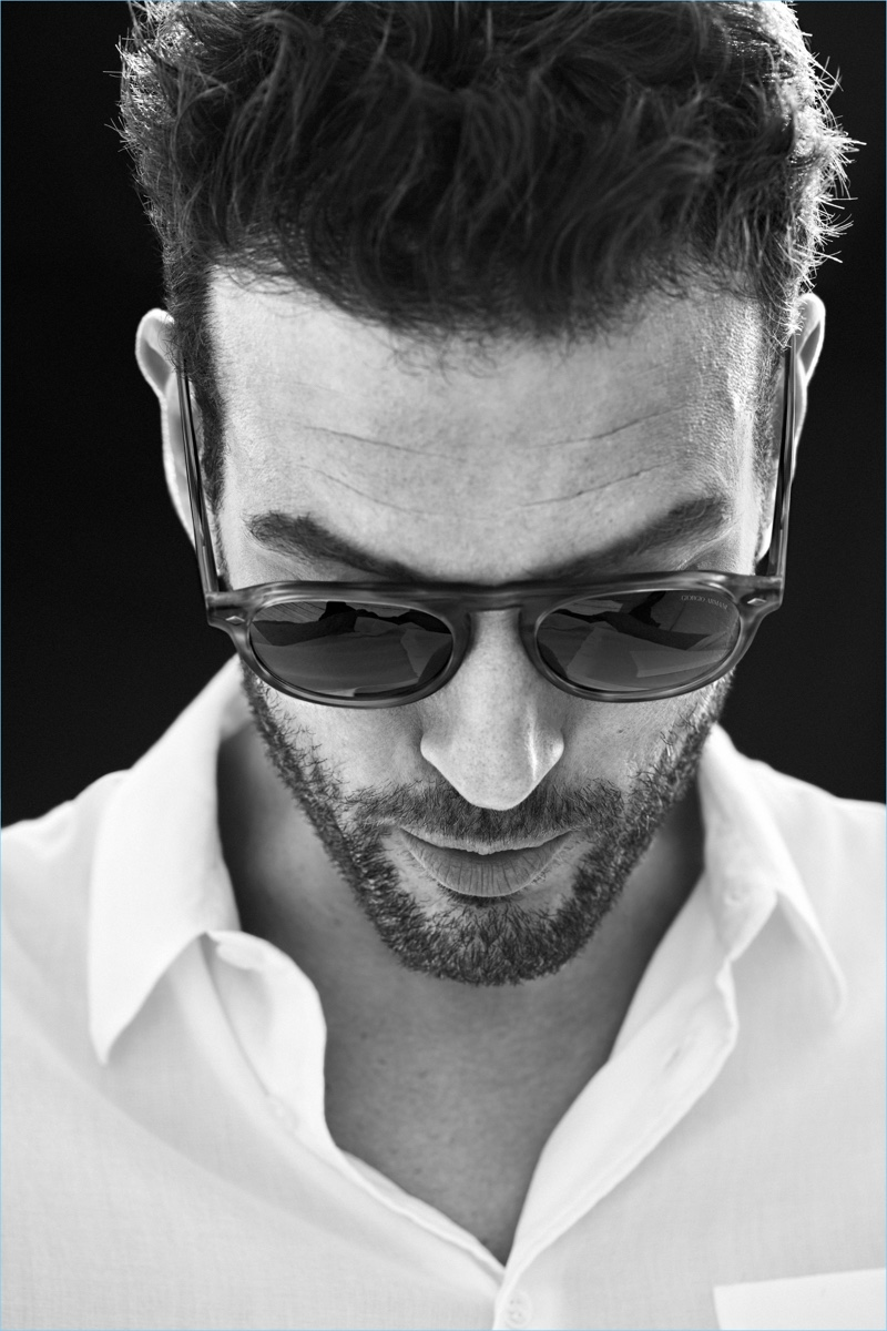 Giorgio Armani's AR 8097 sunglasses are front and center for its new Frames of Life campaign with Tristan.