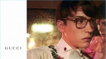 d6b6a2182a3 Nick Fortna Takes the Backseat to Gucci Eyewear for Spring  17 Campaign