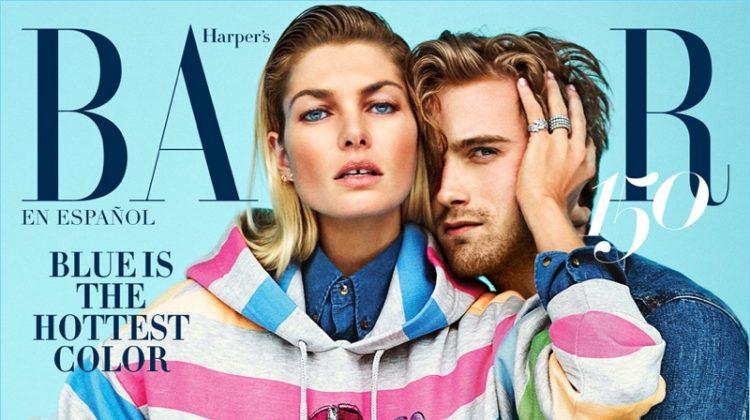 RJ King & Jessica Hart Cover Harper's Bazaar México