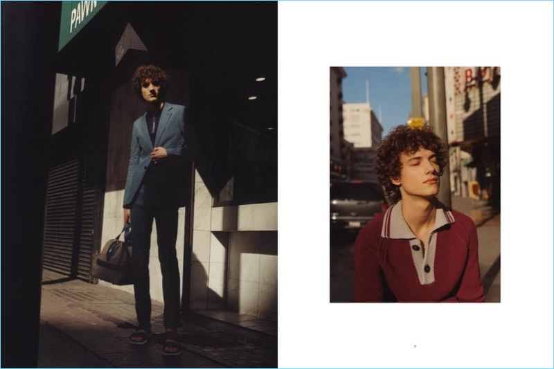 Laura Coulson photographs Serge Rigvava in pieces from Hermès' spring-summer 2017 collection.
