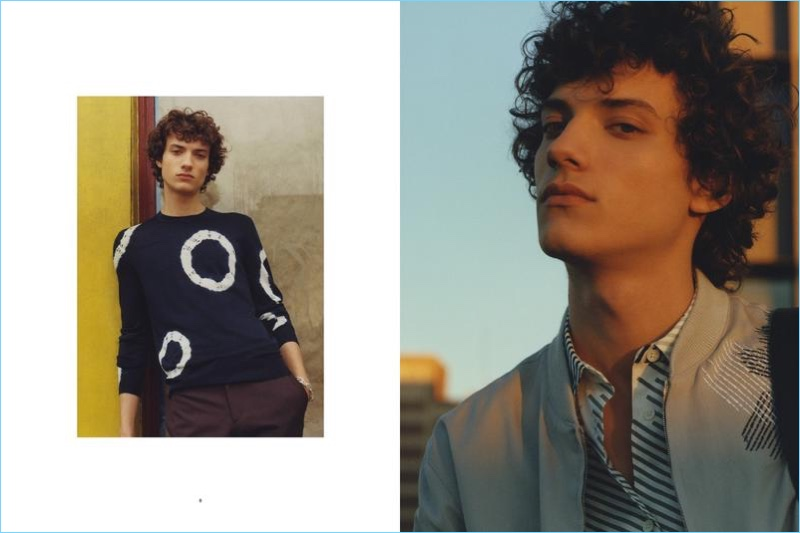 Beat Bolliger outfits Serge Rigvava in spring-summer 2017 fashions by Hermès.