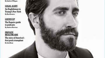 Jake Gyllenhaal covers the April 2017 issue of Esquire UK.