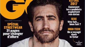 Jake Gyllenhaal covers the April 2017 issue of GQ France.