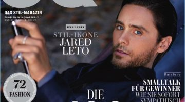 Jared Leto covers the May 2017 issue of GQ Germany.