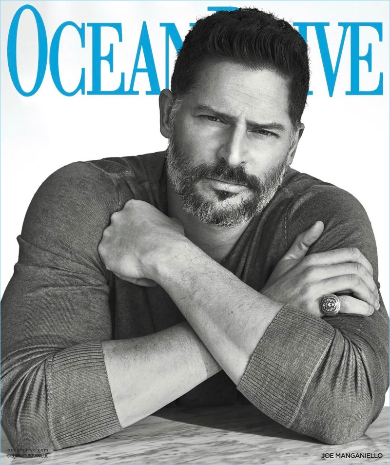 Joe Manganiello covers the April 2017 issue of Ocean Drive.