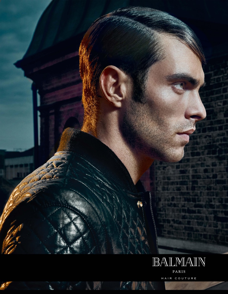 Photographer An Le captures Jon Kortajarena for the Balmain Hair Couture Icons campaign.