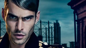 Jon Kortajarena Dons a Slicked Hairstyle for Balmain Hair Couture Icons Campaign