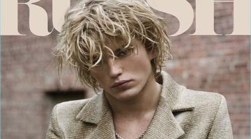 Jordan Barrett covers the most recent issue of Russh magazine.