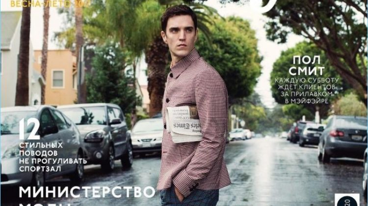 Josh Beech Dons Standout Spring Tailoring for GQ Style Russia Cover Shoot
