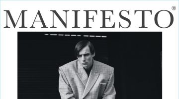 Laurie Harding covers Manifesto in a boxy oversized look from Balenciaga.