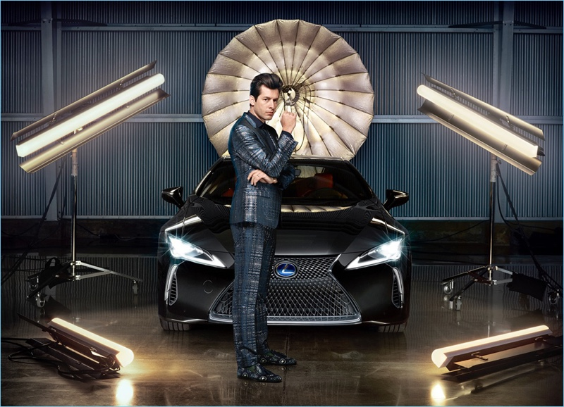 A dandy vision, Mark Ronson suits up for Lexus' Make Your Mark campaign.