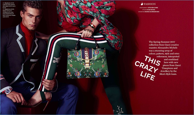 Jacob Hankin stars in a Gucci editorial for Men's Style.