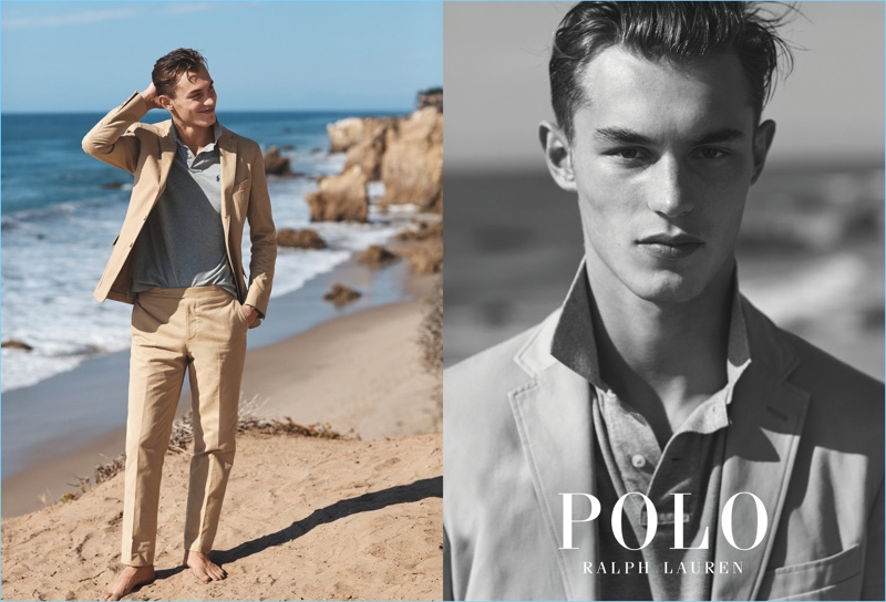 Model Kit Butler fronts POLO Ralph Lauren's spring-summer 2017 campaign.