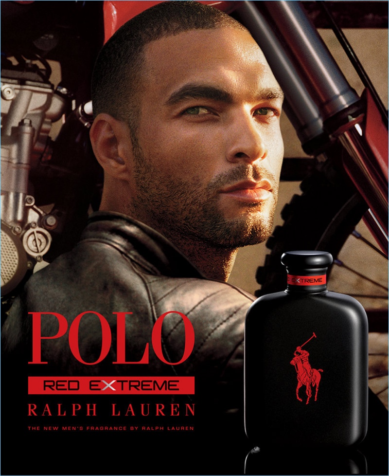 Kenneth Guidroz Jr. stars in Ralph Lauren's POLO Red Extreme fragrance campaign.