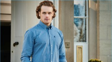 Sam Heughan Reunites with Barbour, Sports Shirts for Spring '17 Campaign