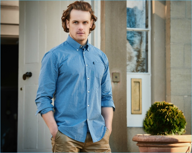 c673564fe4f Sam Heughan for Barbour Spring Summer 2017 Shirt Campaign