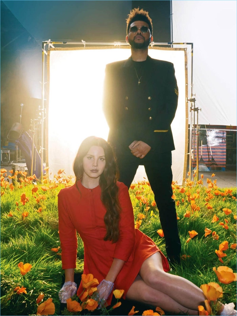 Lana Del Ray and The Weeknd appear in a promo image for their single, Lust for Life.