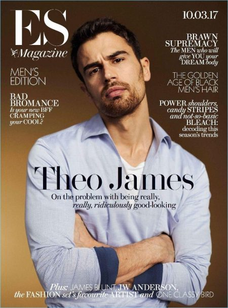 Theo James Covers ES Magazine, Talks 'Backstabbing for Beginners'