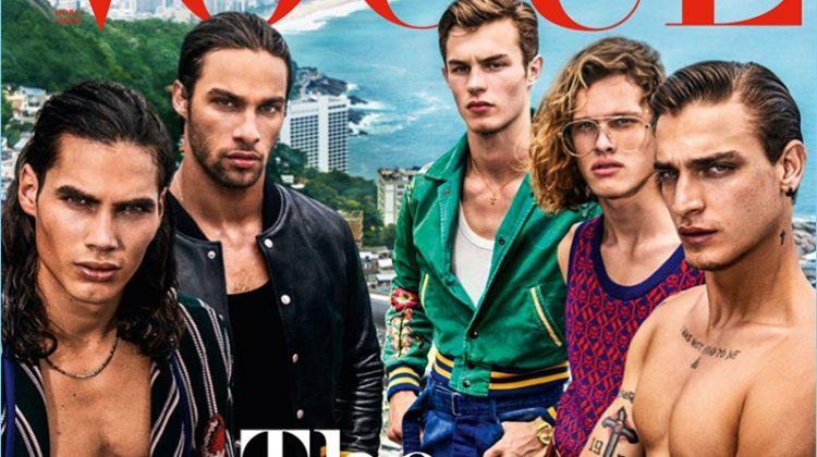 City of the Gods: Mario Testino Shoots Vogue Hommes Paris Cover Shoot