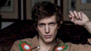 Starring in a Vogue Man Ukraine story, Xavier Buestel wears Stella McCartney.
