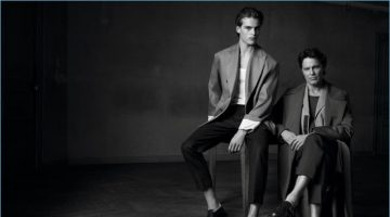 Parker and Andre van Noord star in an editorial for Sport & Style.