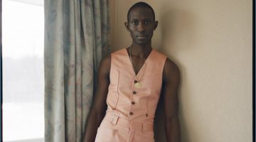 Armando Cabral dons a vest and trousers by Roberto Cavalli.