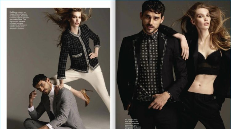Arthur Kulkov Stars in His & Her Fashion Story for Elle Russia