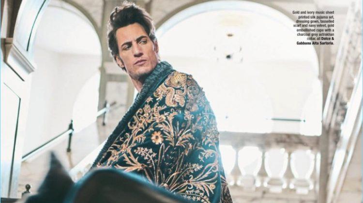 Axel Hermann is Dashing in Dolce & Gabbana Alta Sartoria for The Rake