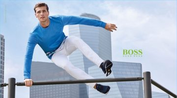 Hunter & Gatti photograph Edward Wilding for BOSS Green's spring-summer 2017 campaign.