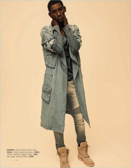 Myles Dominique Rocks Designer Fashions from Barneys