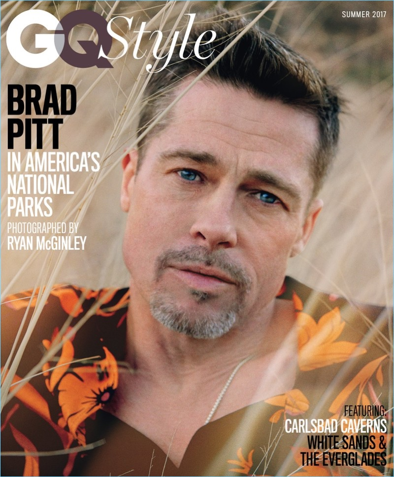 Wearing an AMI shirt, Brad Pitt covers GQ Style.