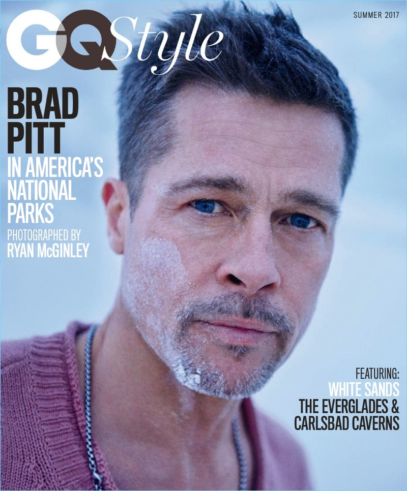 Brad Pitt covers the summer 2017 issue of GQ Style in Bottega Veneta.