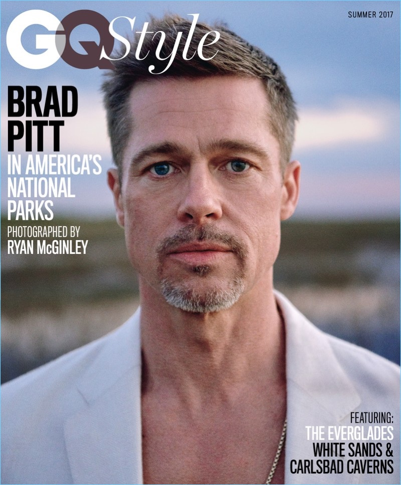 Actor Brad Pitt covers GQ Style in an Ermenegildo Zegna blazer.
