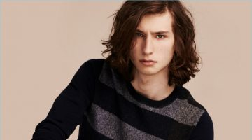Burberry Graphic Check Cashmere Cotton Sweater
