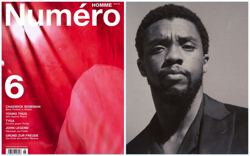 Chadwick Boseman Covers Numéro Homme Berlin, Wears Giorgio Armani & Talks 'Black Panther'