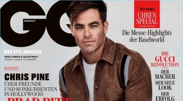 Chris Pine covers the June 2017 issue of GQ Germany.